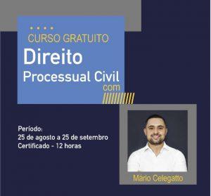 curso gratuito direito processual civil com mário celegatto