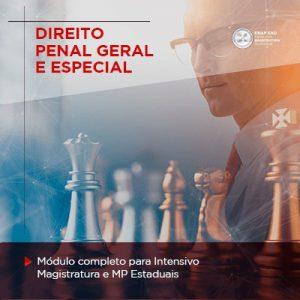 Banner de divulgação módulo completo para intensivo magistratura e MP estaduais - direito penal geral e especial
